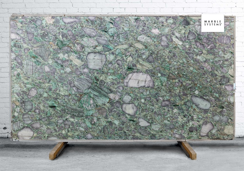 EMERALD GREEN POLISHED QUARTZITE SLAB SL90013-95955-1-6