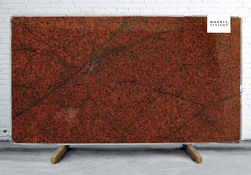 Red Dragon Polished Granite Slab Random 1 1/4