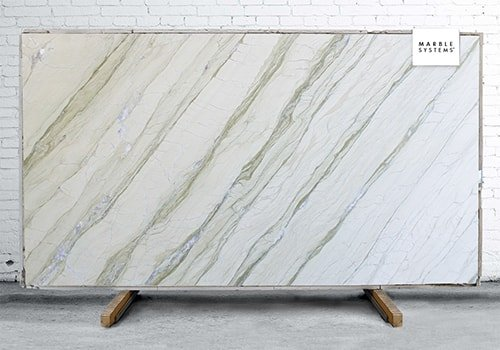 Alga Green Polished Marble Slab Random 1 1/4