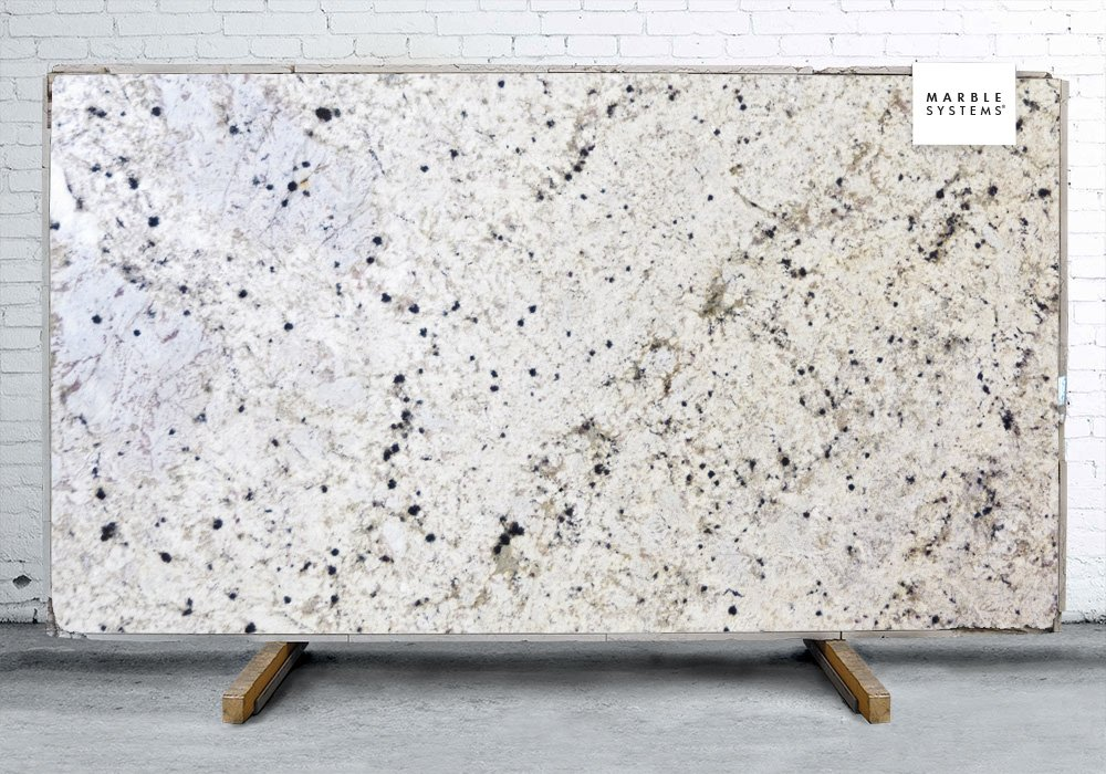 White Spring Polished Granite Slab Random 1 1/4