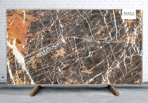 Port Laurent Polished Marble Slab Random 1 1/4