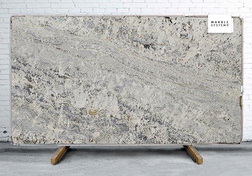 White Persa Polished Granite Slab Random 1 1/4