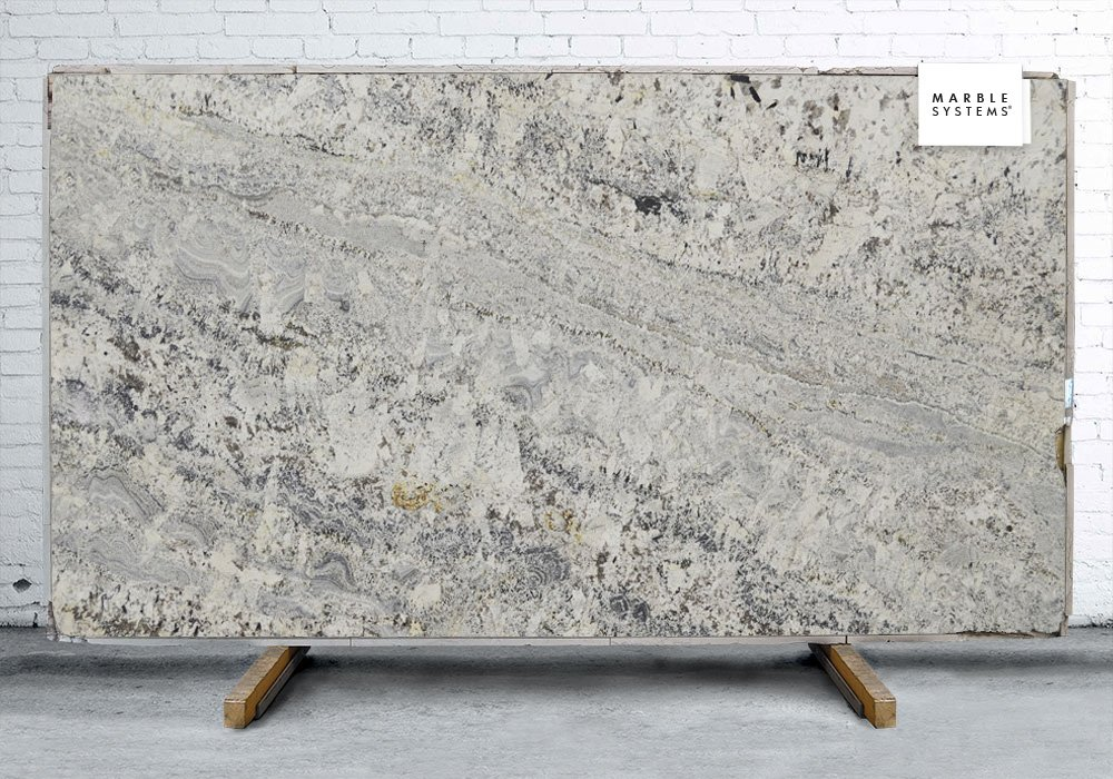 White Persa Polished Granite Slab Random 1 1 4