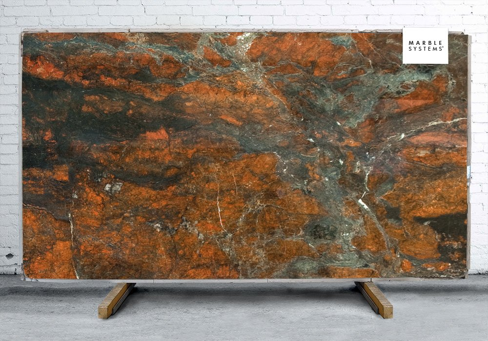 Red Hollywood Polished Granite Slab Random 1 1/4