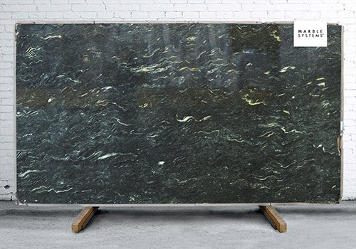 Metallic Black Polished Granite Slab Random 1 1/4