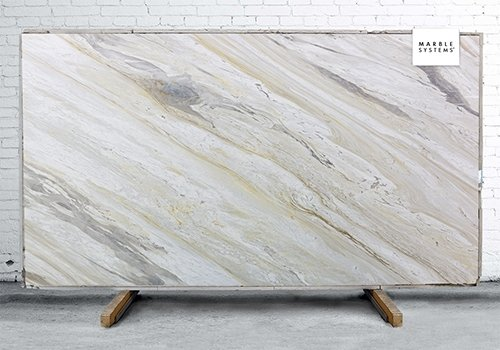 Lord White Polished Marble Slab Random 3/4