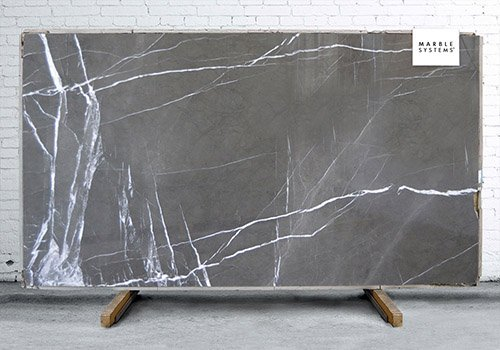 Pietra Gray Polished Marble Slab Random 1 1/4
