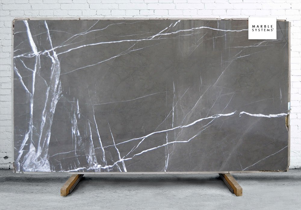 Grey Granite Slabs : Pietra gray polished marble slab random