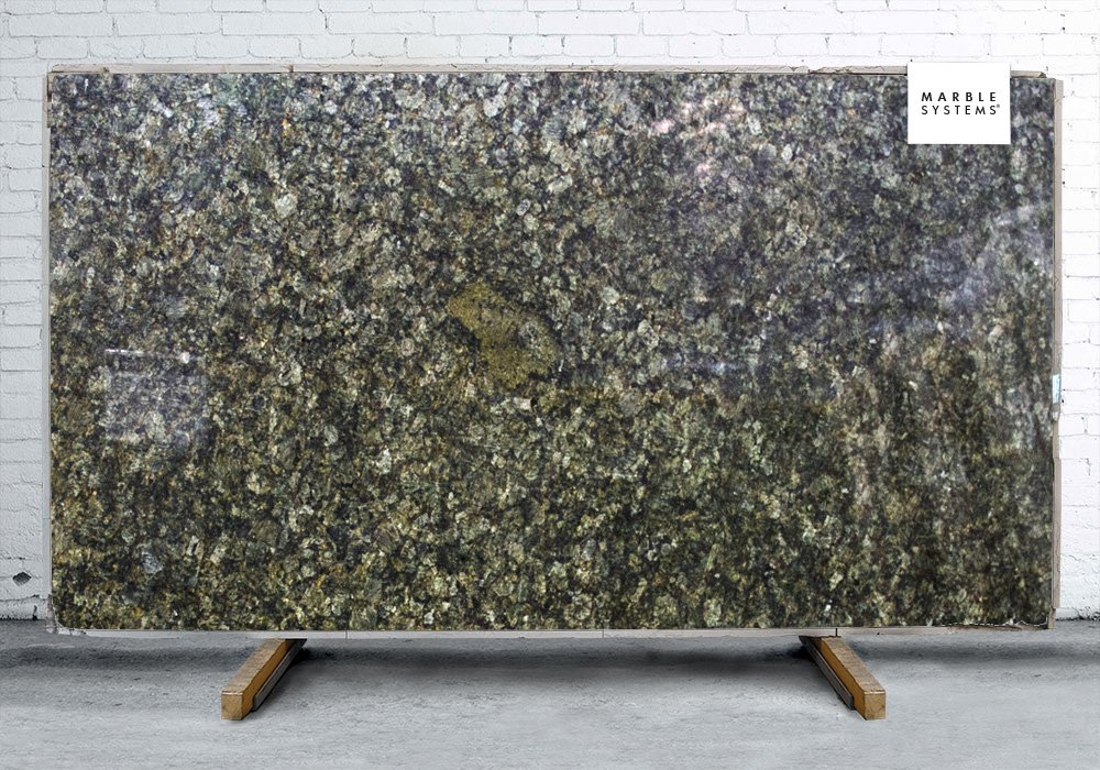 Golden Jade Polished Granite Slab Random 1 1/4