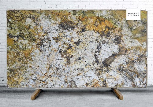 Citrus Polished Granite Slab Random 1 1/4