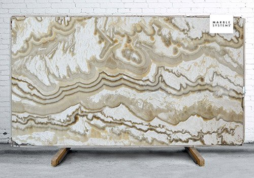 Alabastro Persiano Polished Onyx Slab Random 3/4