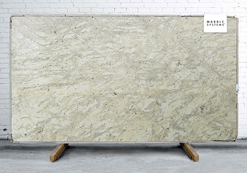 Andromeda White Polished Granite Slab Random 1 1/4