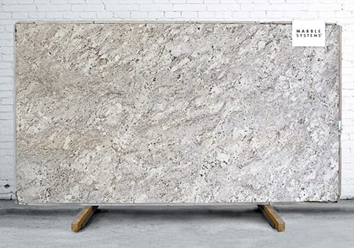 Alaska White Polished Granite Slab Random 1 1/4