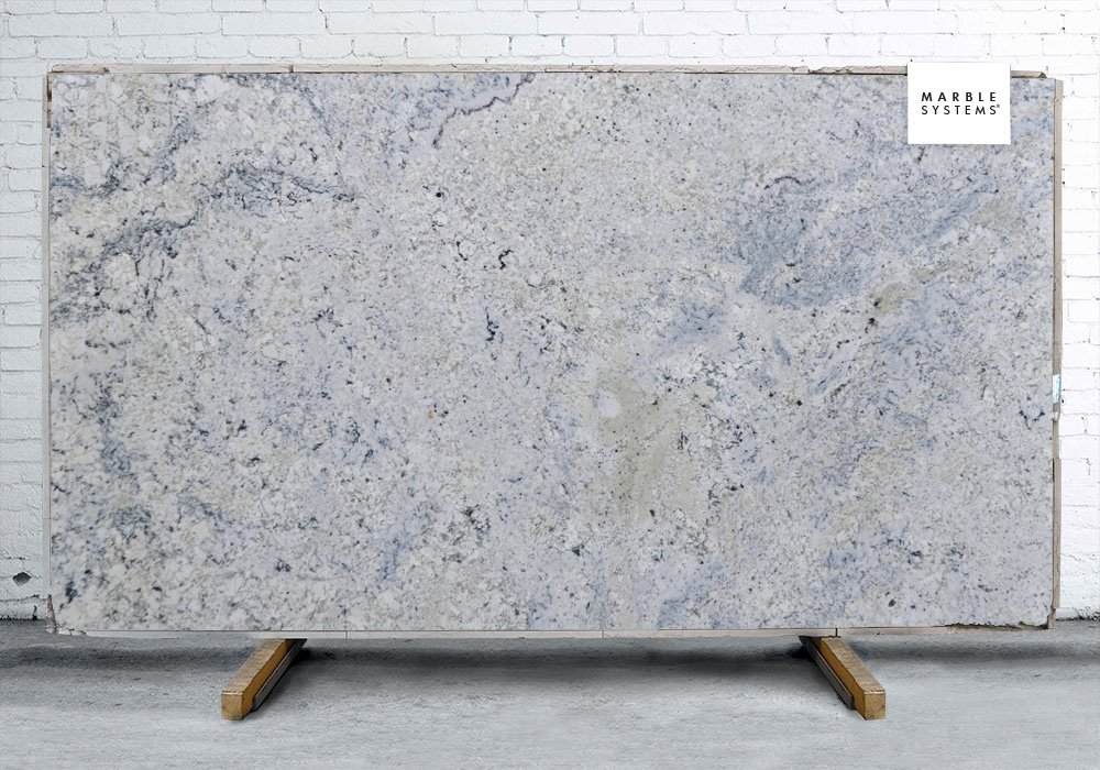 GLACIER WHITE POLISHED GRANITE SLAB SL90383