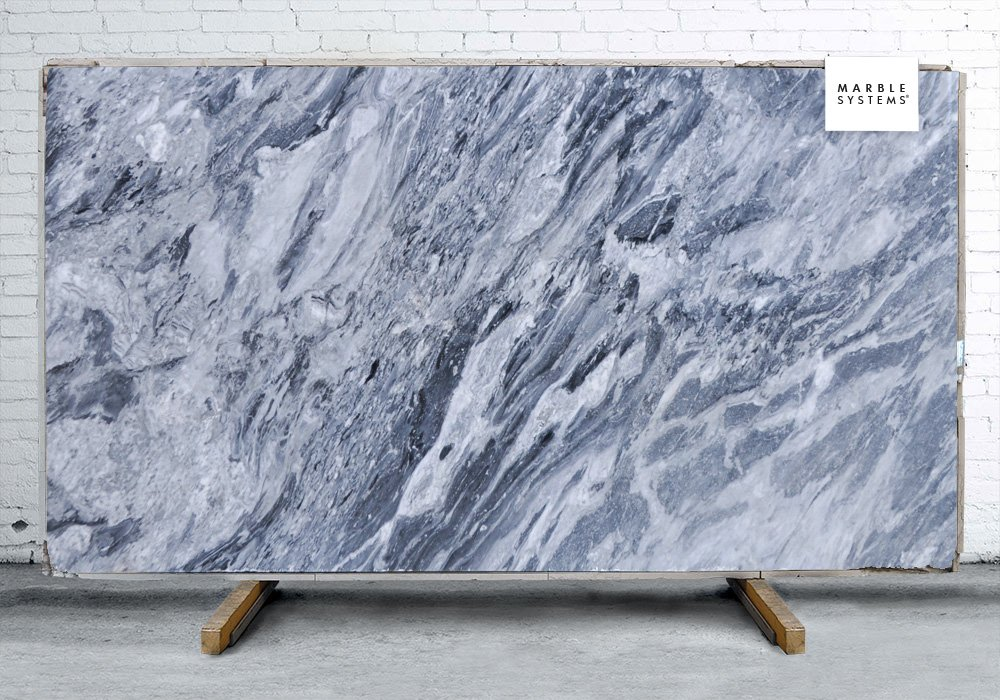 Bardiglio Nuvolato Polished Marble Slab Random 1 1 4