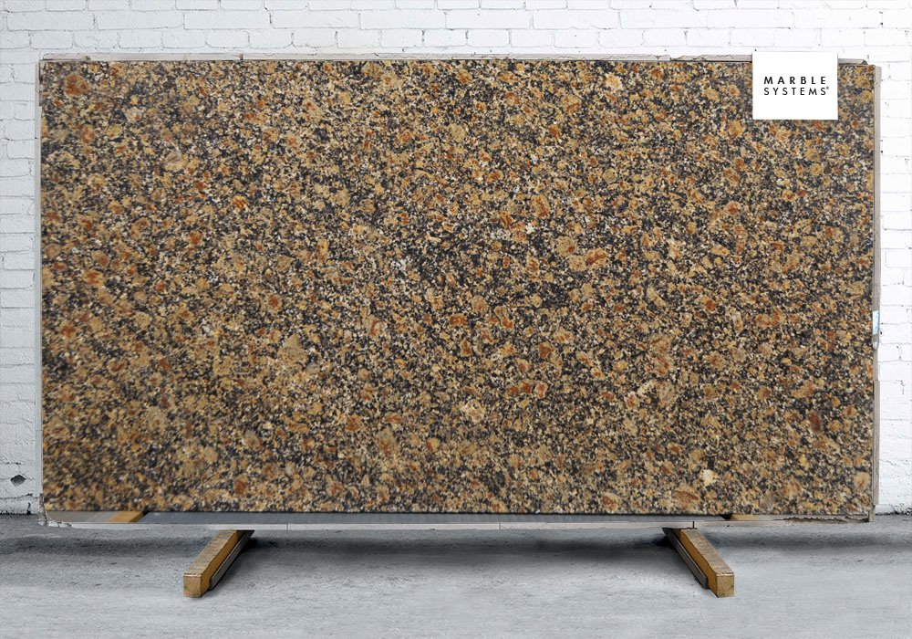 Portofino Brown Polished Granite Slab Random 1 1/4