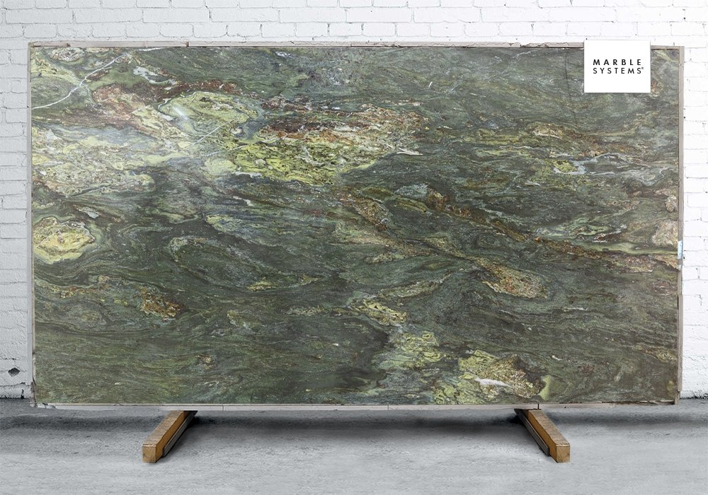 RIVER GREEN POLISHED GRANITE SLAB SL90482-02948-1-6