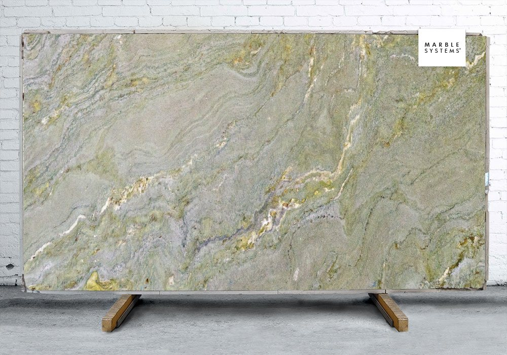 River Green Polished Granite Slab Random 1 1/4