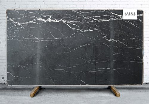 Lisola Black Honed&filled Marble Slab Random 1 1/4
