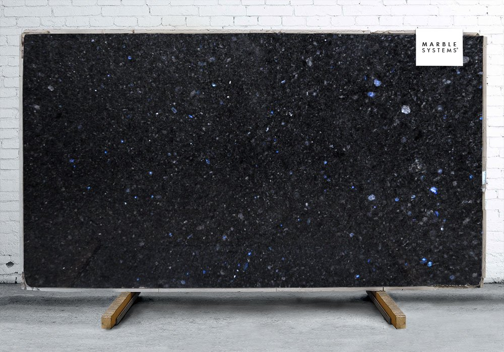Polar Blue Polished Granite Slab Random 1 1/4