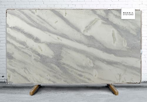 Damasco White Polished Quartzite Slab Random 1 1/4