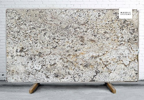 Tempest White Polished Granite Slab Random 1 1/4