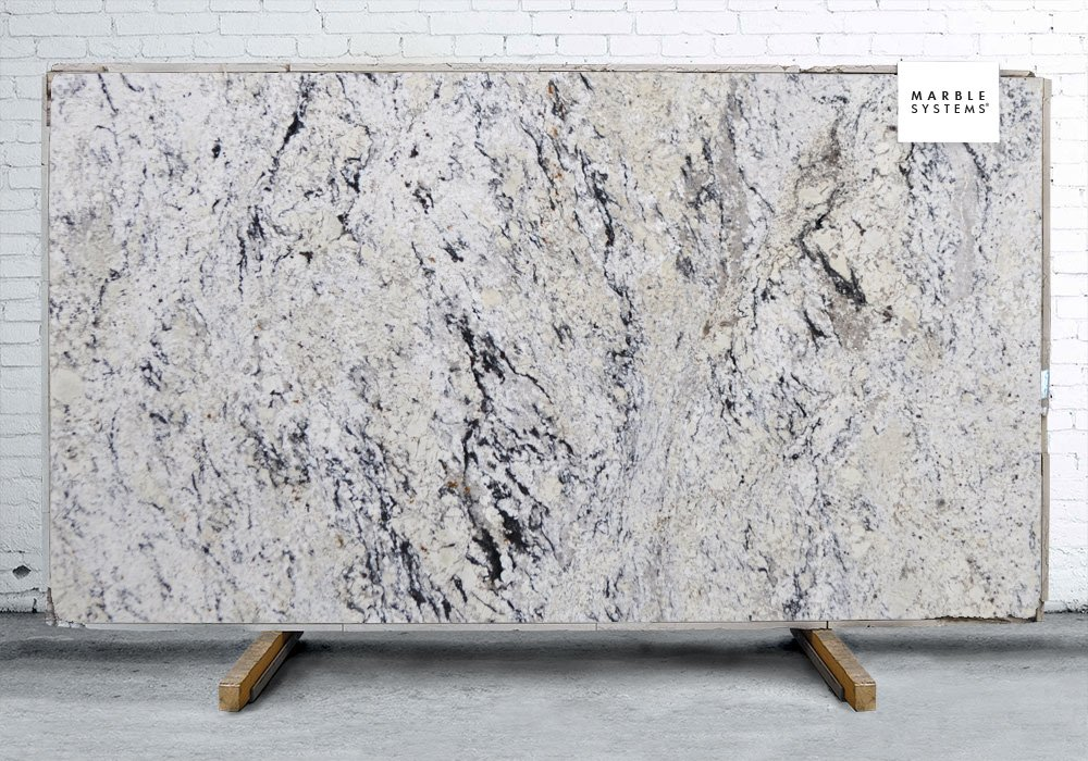 White delicatus polished granite slab random 1 1 4 for 3 4 inch granite countertops