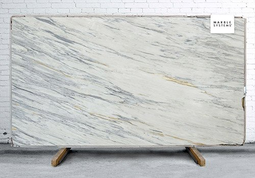 Arabesque Polished Marble Slab Random 1 1/4