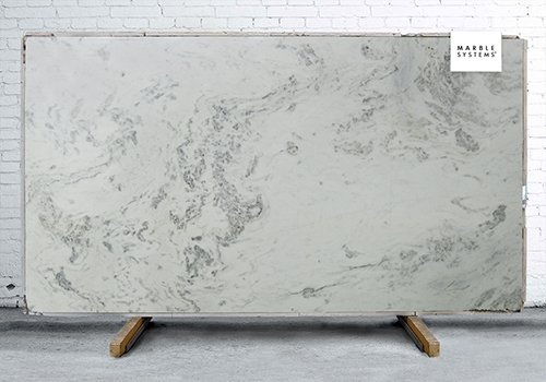 Stormy White Polished Marble Slab Random 1 1/4