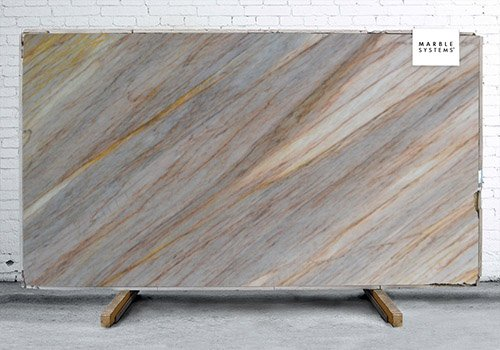 Aurora Blue Polished Quartzite Slab Random 1 1/4