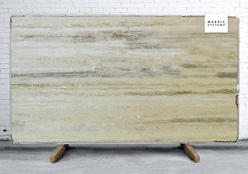 Silver Travertine Polished Travertine Slab Random 1 1/4