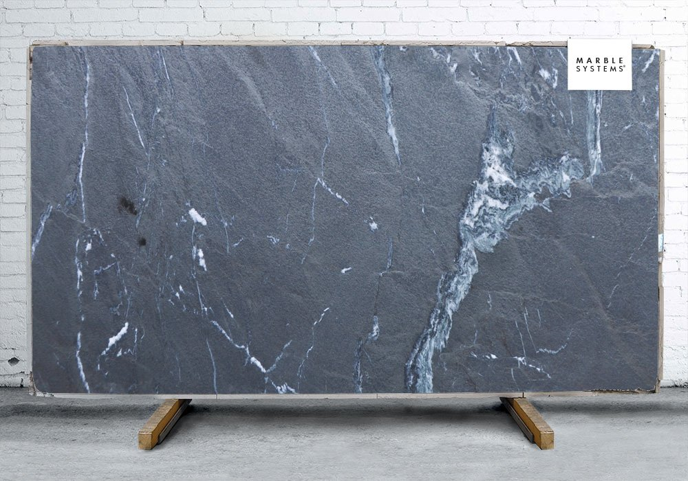 Nero Oceano Leather Slate Slab Random 1 1/4