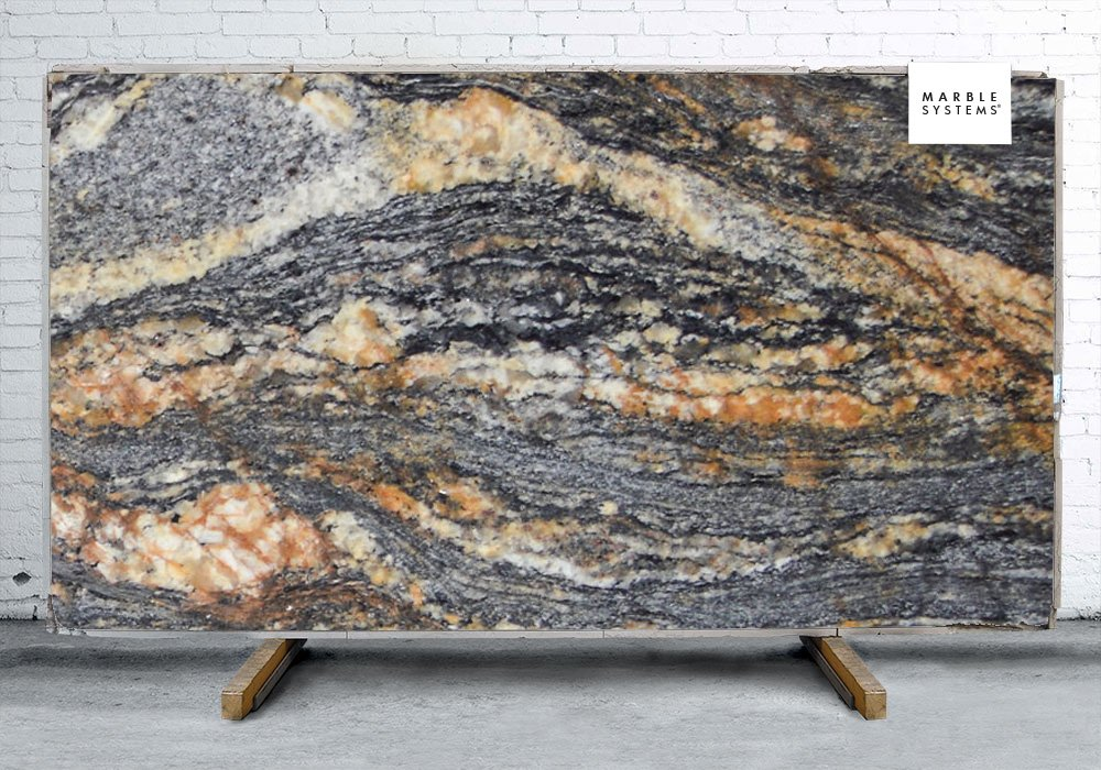 Magma Gold Leather Granite Slab Random 1 1 4 Marble