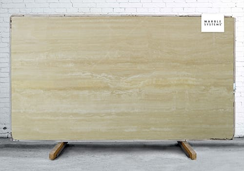 Roman Travertine Vein Cut Polished Travertine Slab Random 1 1/4