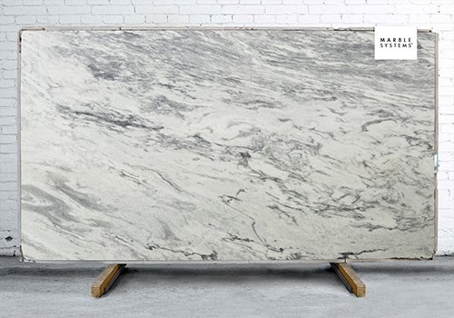 Pearl Gray Polished Marble Slab Random 1 1/4