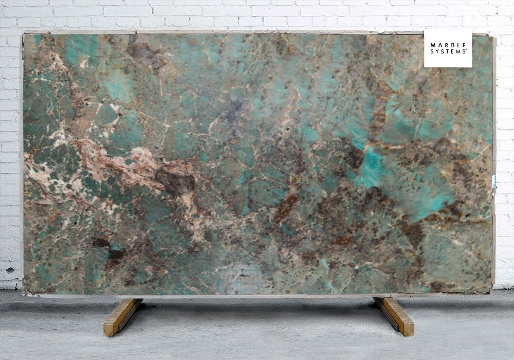 Amazonite Polished Quartzite Slab Random 1 1 4 Marble