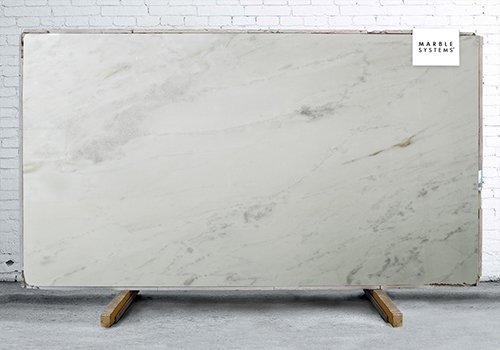 Syberian White Polished Marble Slab Random 1 1/4