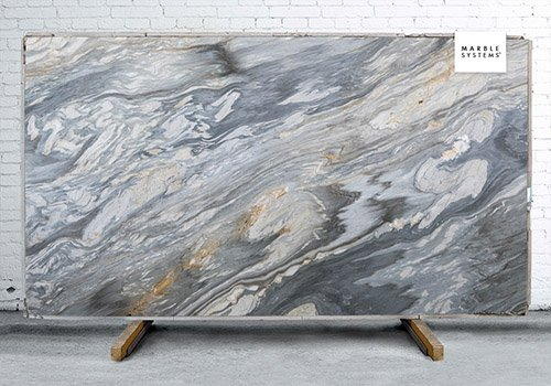 Calacatta Cielo Leather Marble Slab Random 1 1/4