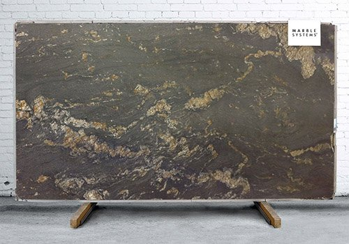 Magma Black Leather Granite Slab Random 1 1/4
