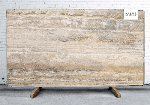 Silver Rustic Vein Cut Honed Travertine Slab Random 3/4