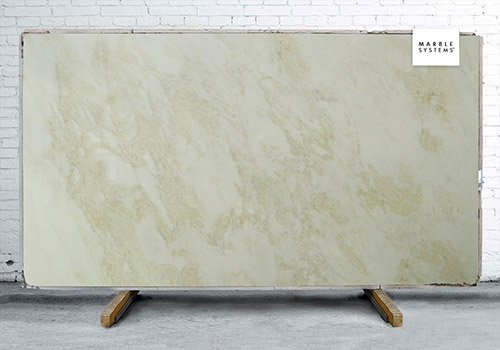 Stellar White Polished Marble Slab Random 1 1/4