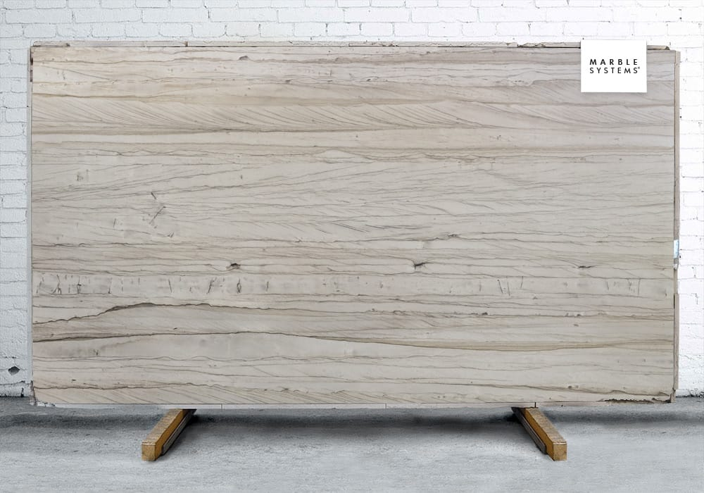 WHITE MUSTANG POLISHED QUARTZITE# SLAB SL90839-81131-1-12