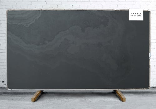 Montauk Black Honed Slate Slab Random 1 1/4