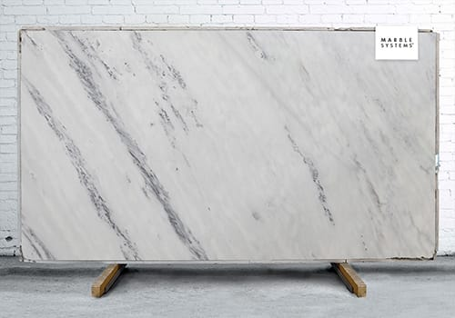 Bianco Lasa Honed Marble Slab Random 1 1/4