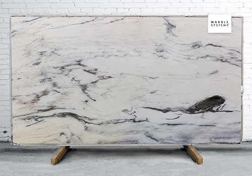 White Heron Polished Marble Slab Random 1 1/4
