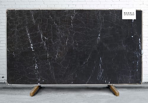 Pietra Black Polished Marble Slab Random 1 1/4