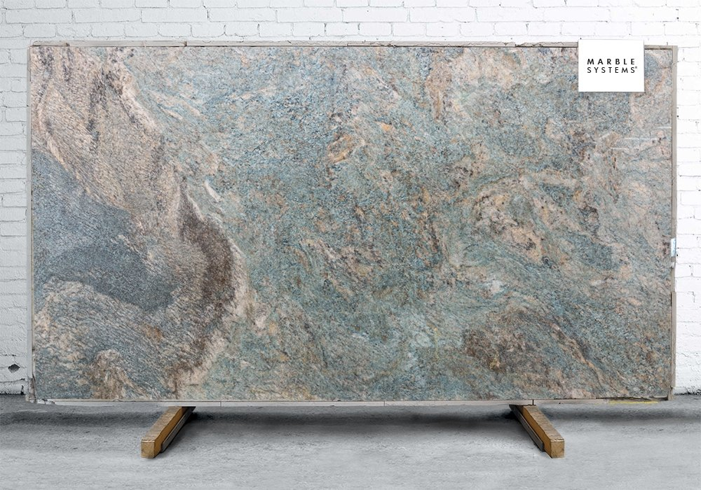 VALLEY BLUE TURQUOISE POLISHED QUARTZITE SLAB SL90965-95141-1-7