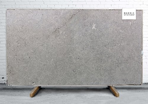 Borghamn Light Gray Honed Limestone Slab Random 1 1/4