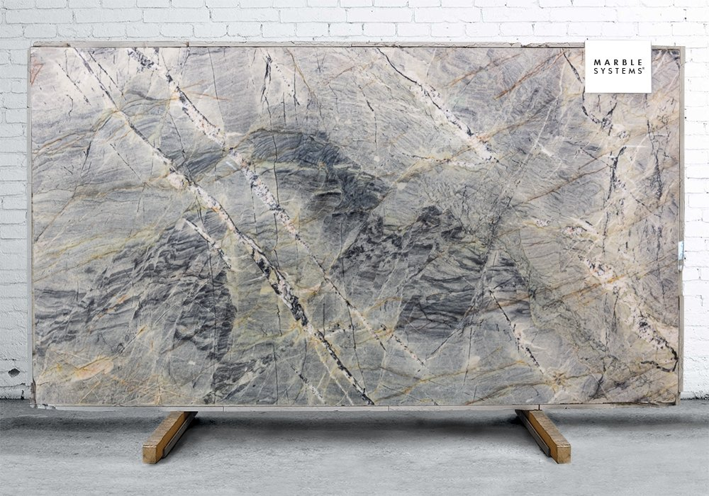 BLUE SEA POLISHED QUARTZITE SLAB SL91004
