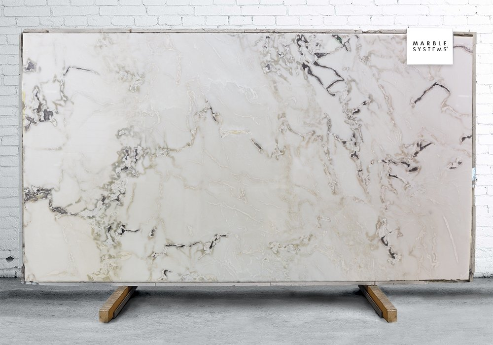 DOVER WHITE POLISHED MARBLE SLAB SL91023-04627-1-12